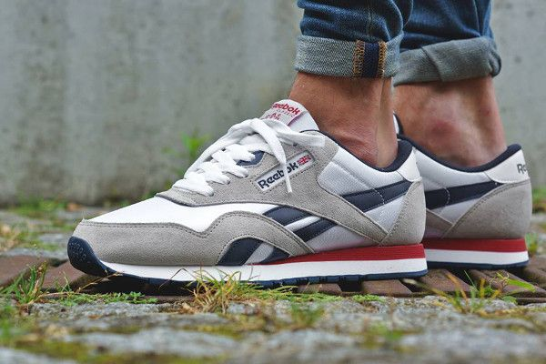 ... Reebok CL Nylon SP WhiteSteelNavyRed ... 1566aab6f