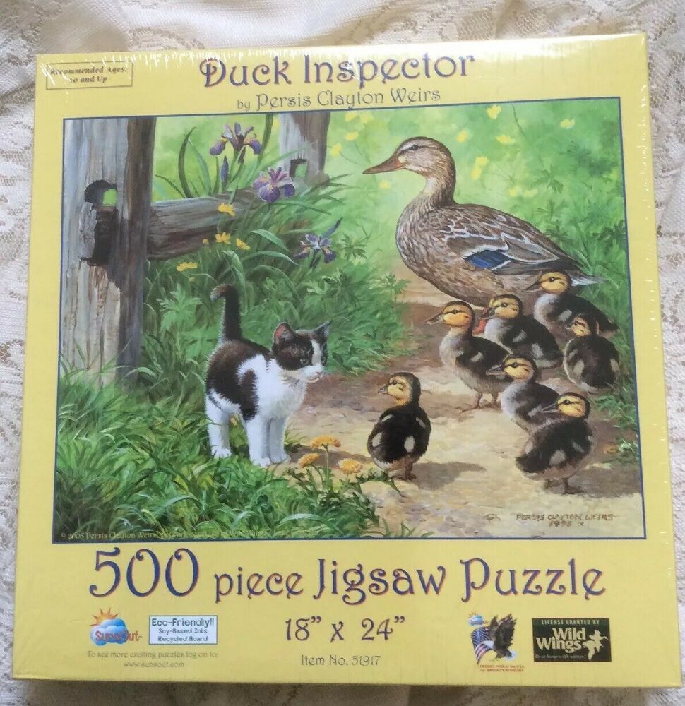 Duck Inspector a 500-Piece Jigsaw Puzzle by Sunsout Inc 51917