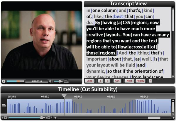 Visualization Lab   Tools for Placing Cuts and Transitions in Interview Video