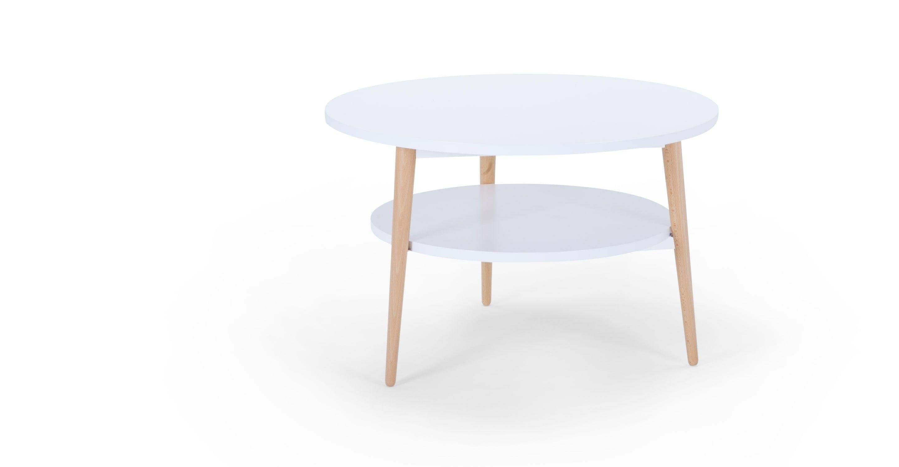 Marcos Compact Coffee Table Natural And White Wohnzimmertische Wohnzimmer Tisch Weiss Und Couchtisch