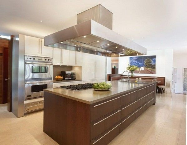 küche mit kochinsel in minimalistischem stil Kitchen Pinterest - küchen mit kochinsel
