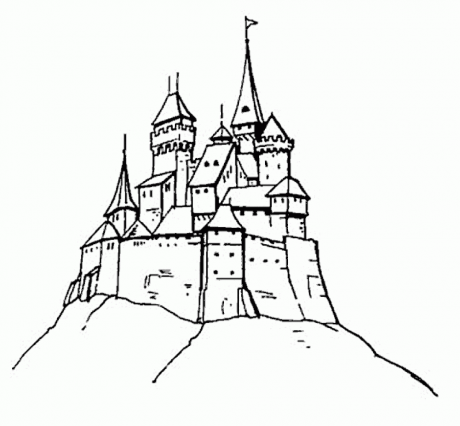 free inner castle coloring pages - photo#7