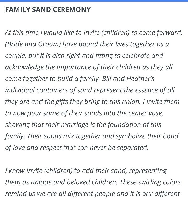 Wedding Officiant Speech Ideas: Blended Family Vows …