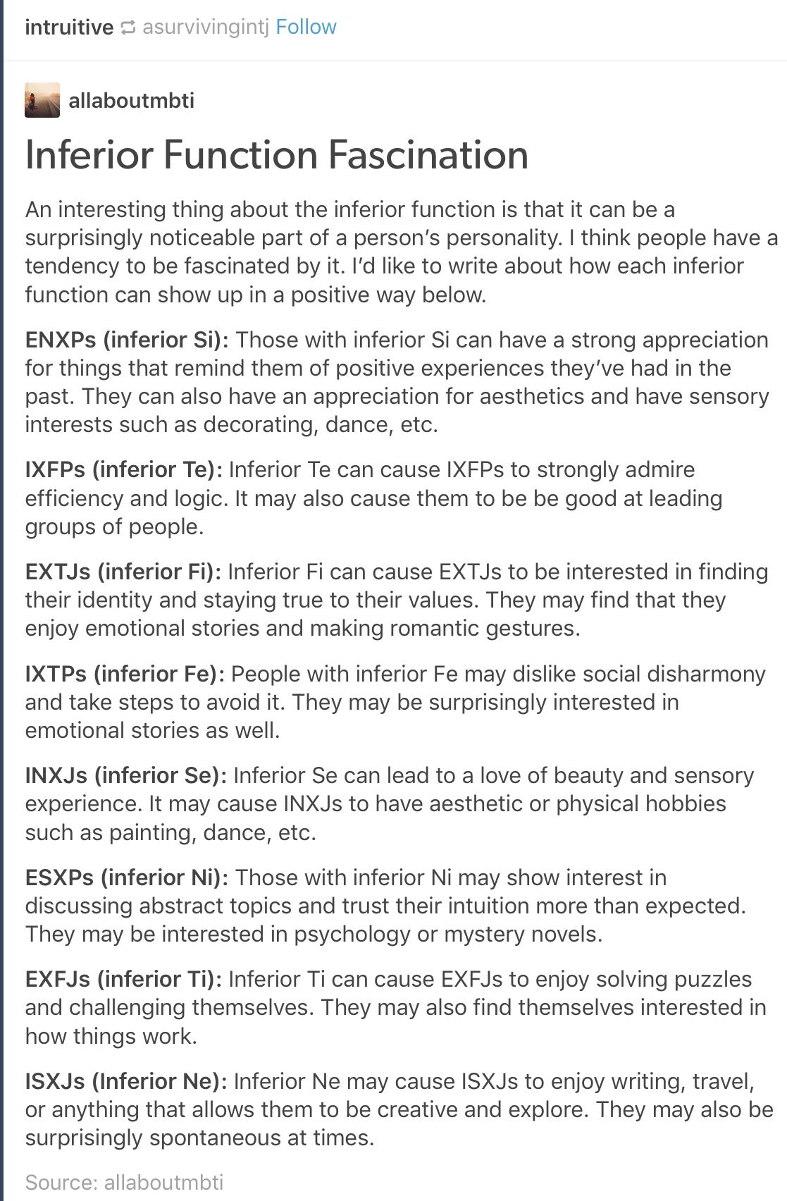 ISTJs inferior function   mbti   Infp personality, Intj