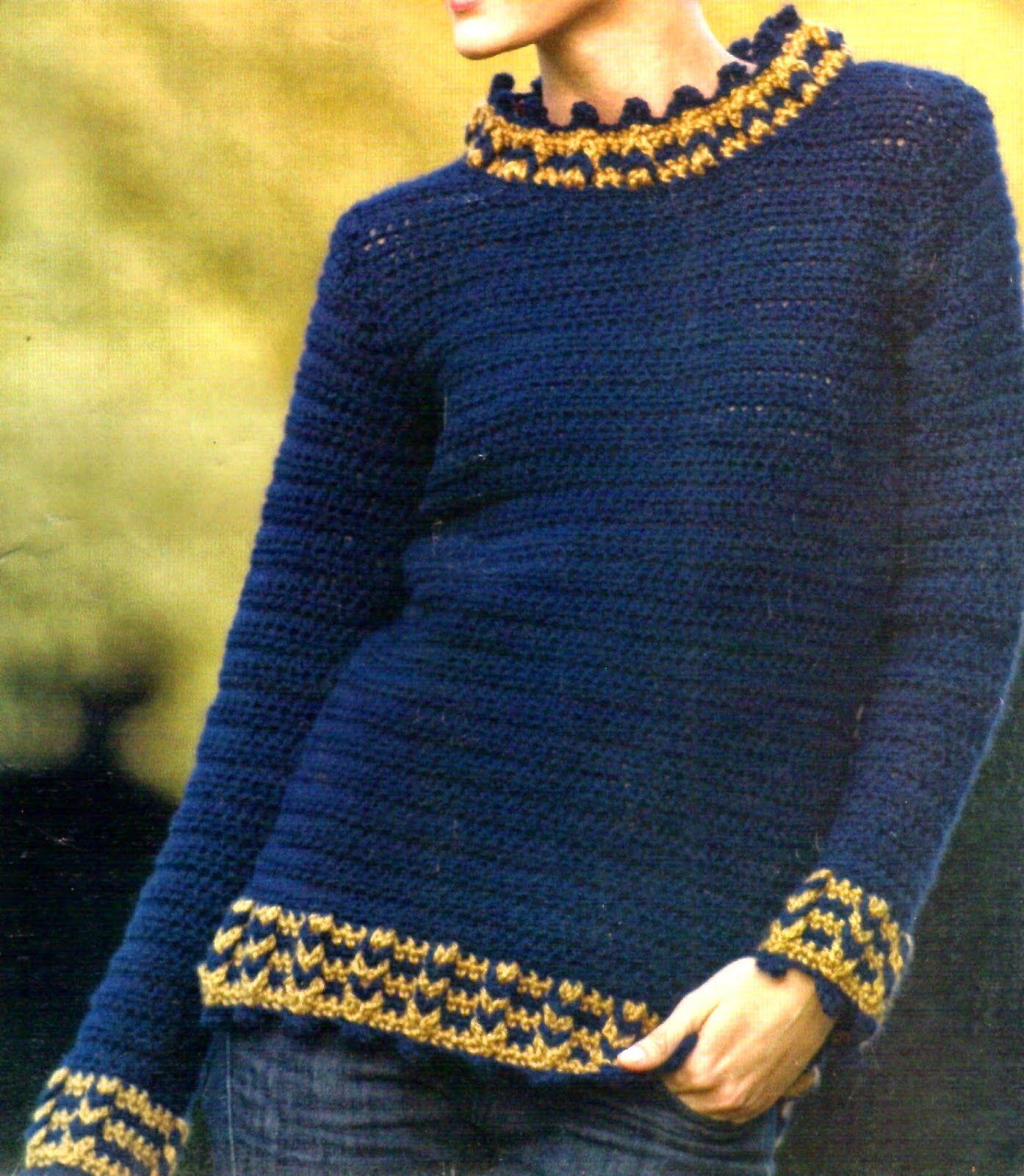 tejidos artesanales en crochet  elegante sueter pull tejido en crochet 794ed424a76e