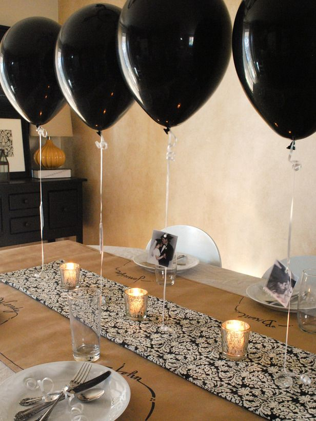 Black Balloons Also Party Centerpieces Th Birthday Rh In