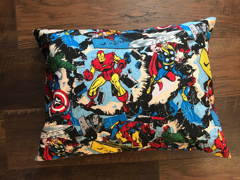 Avengers Pillowcase Iron Man Thor Hulk Spiderman Pillow