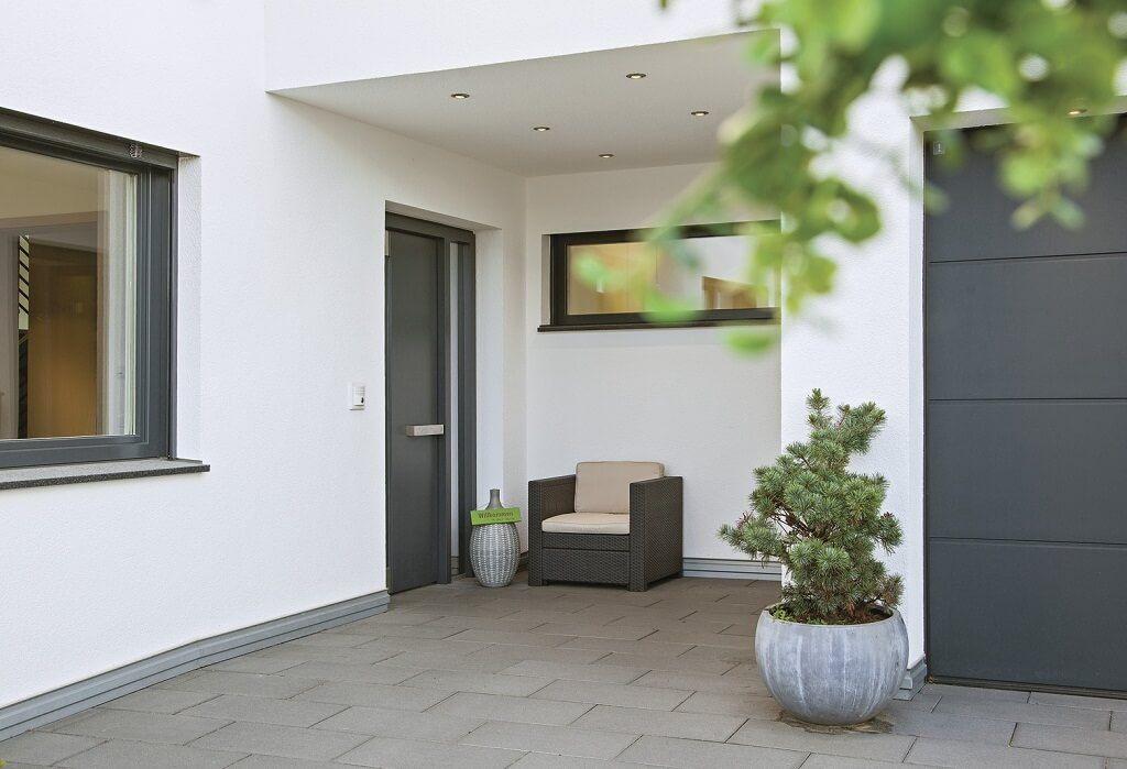 Einfamilienhaus Eingang überdacht City Life   Haus 250_WeberHaus   Haus  Bauen Ideen Auf HausbauDirekt
