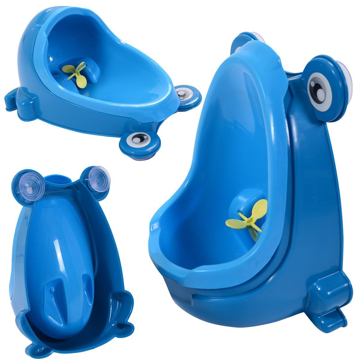 ae3a60f13e822 Blue Cute Frog Potty Training Urinal For Boys Kids With Funny Aiming Target