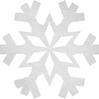 Foil Snowflake Cutout Snowflake Decorations Disneyu0027s Frozen - snowflake template