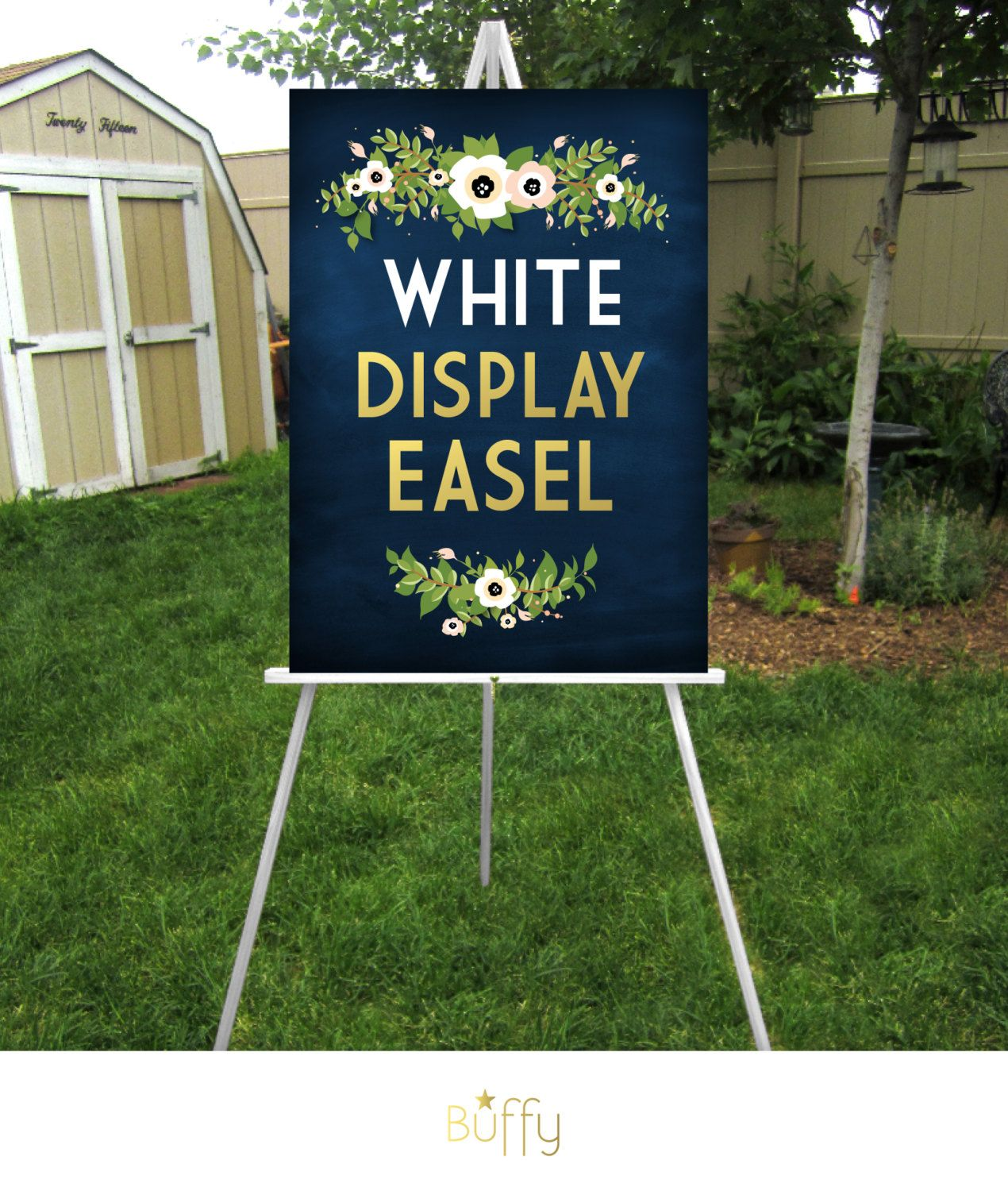 White Easel Wood 5ft Floor Display Large Wedding Sign Stand Etsy Large Wedding Signs Wood Signage Wedding Signs