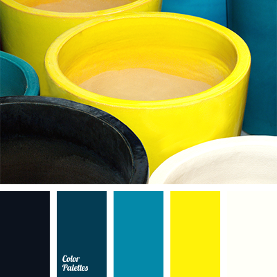 Bright Yellow Colour Creates Beautiful Contrast In Combination With Blue Green Of Teals This Palette Will Look Good Kitchen Or Living Room Thes