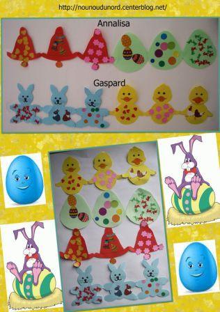 Bricolage Paques Assistante Maternelle Pour Les Petits Ribambelle Decoration Poussin Lapin Et
