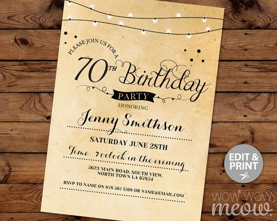 70th birthday invitation elegant seventy invitations by wowwowmeow 70th birthday invitation elegant seventy invitations by wowwowmeow filmwisefo Gallery