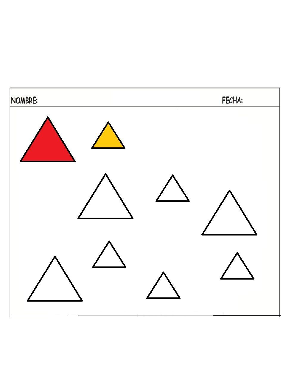 Triangulo grande-pequeño - Dibujos para pintar | Pequeños dibujos ...