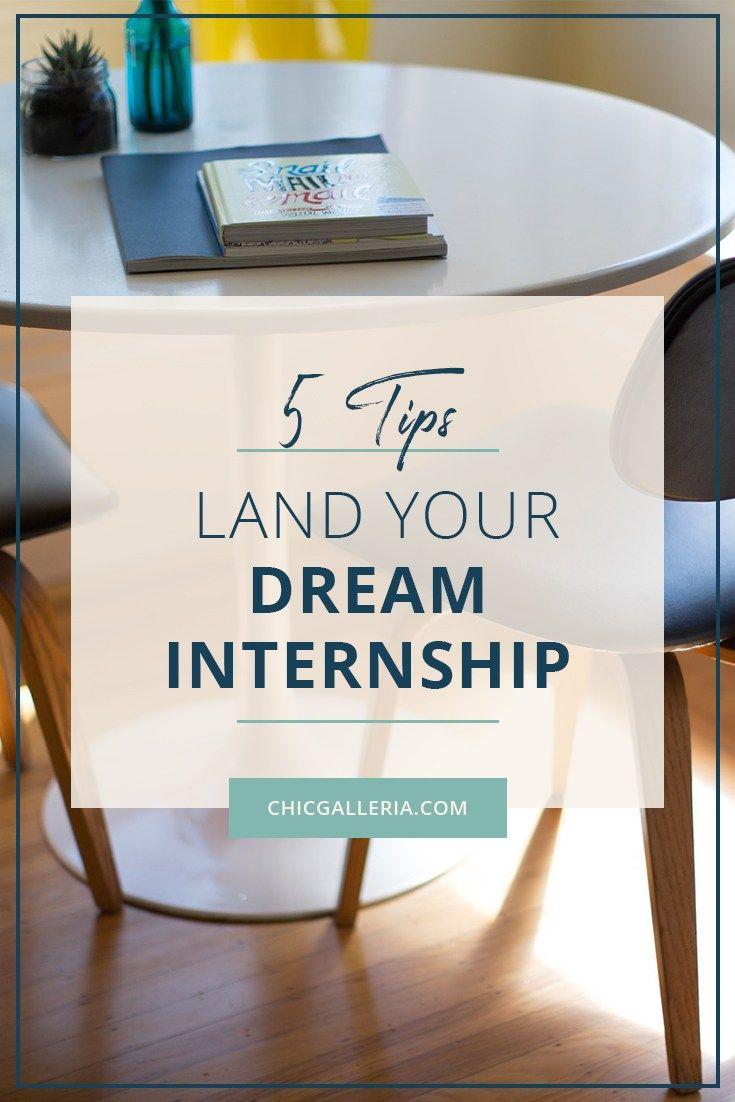 5 ways to land your dream internship internship resume