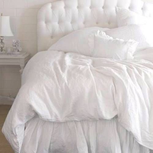 I Love All White Bedding Unfortunately My Love Of Dogs Has