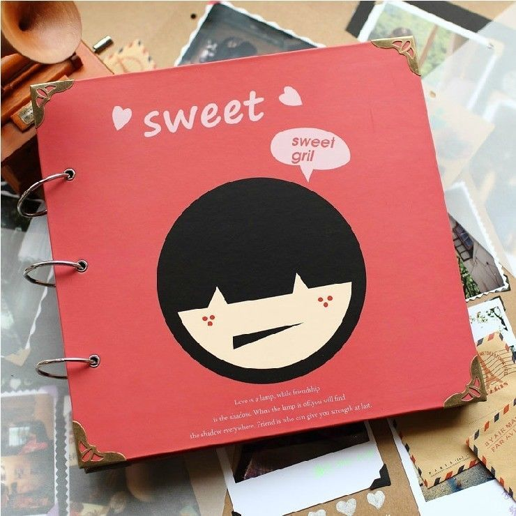 Sweet Girl Big Cute Kawaii DIY Photo Album Mommy Book Kids Baby Family