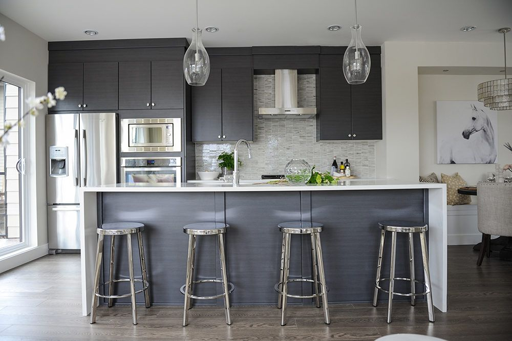 a modern townhome designed for the love of entertaining in 2020 modern grey kitchen grey on kitchen ideas gray id=39063