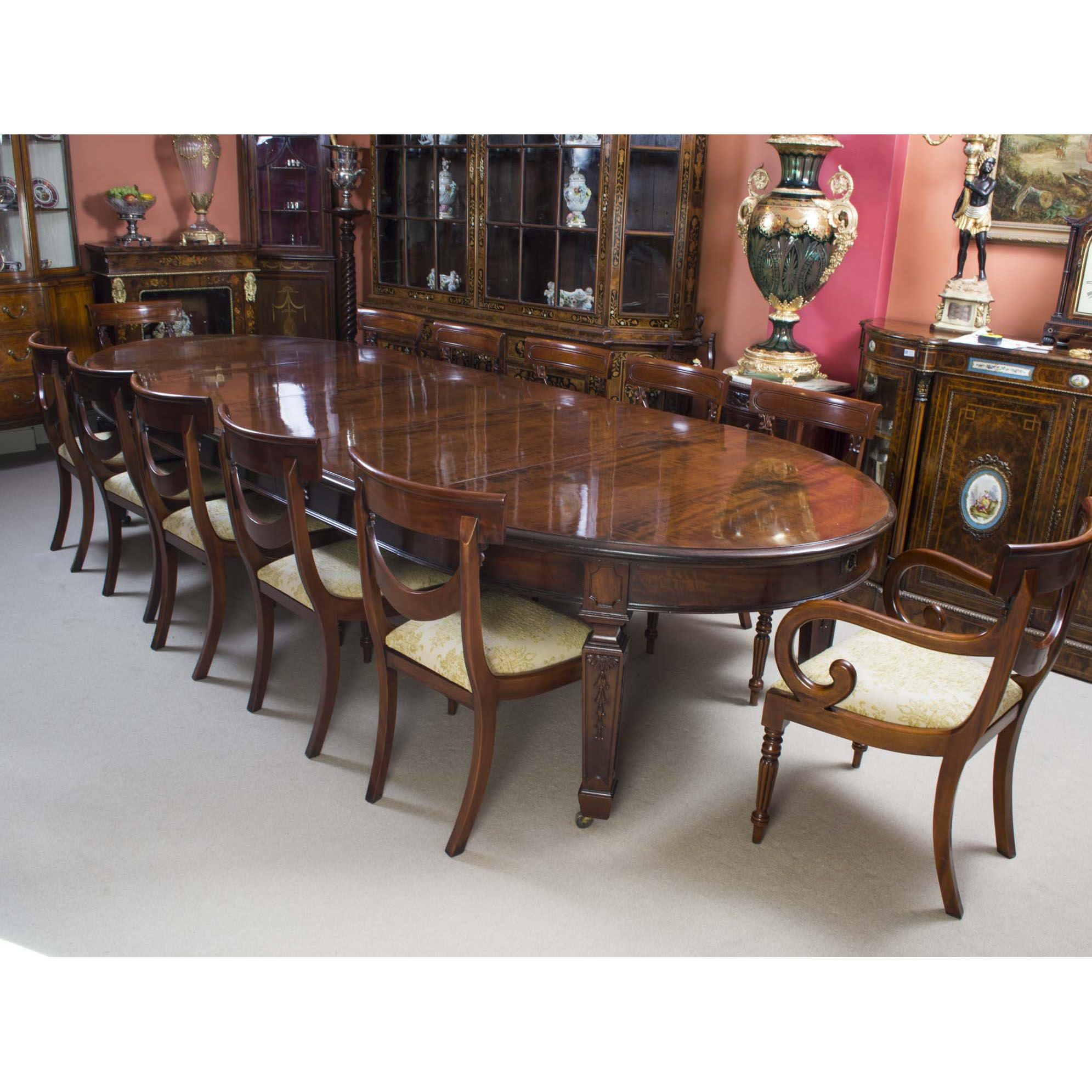 Antique 12ft 6 Victorian Dining Table 12 Chairs 19th Century Esstisch Dekor Tisch Und Stuhle Esszimmertisch