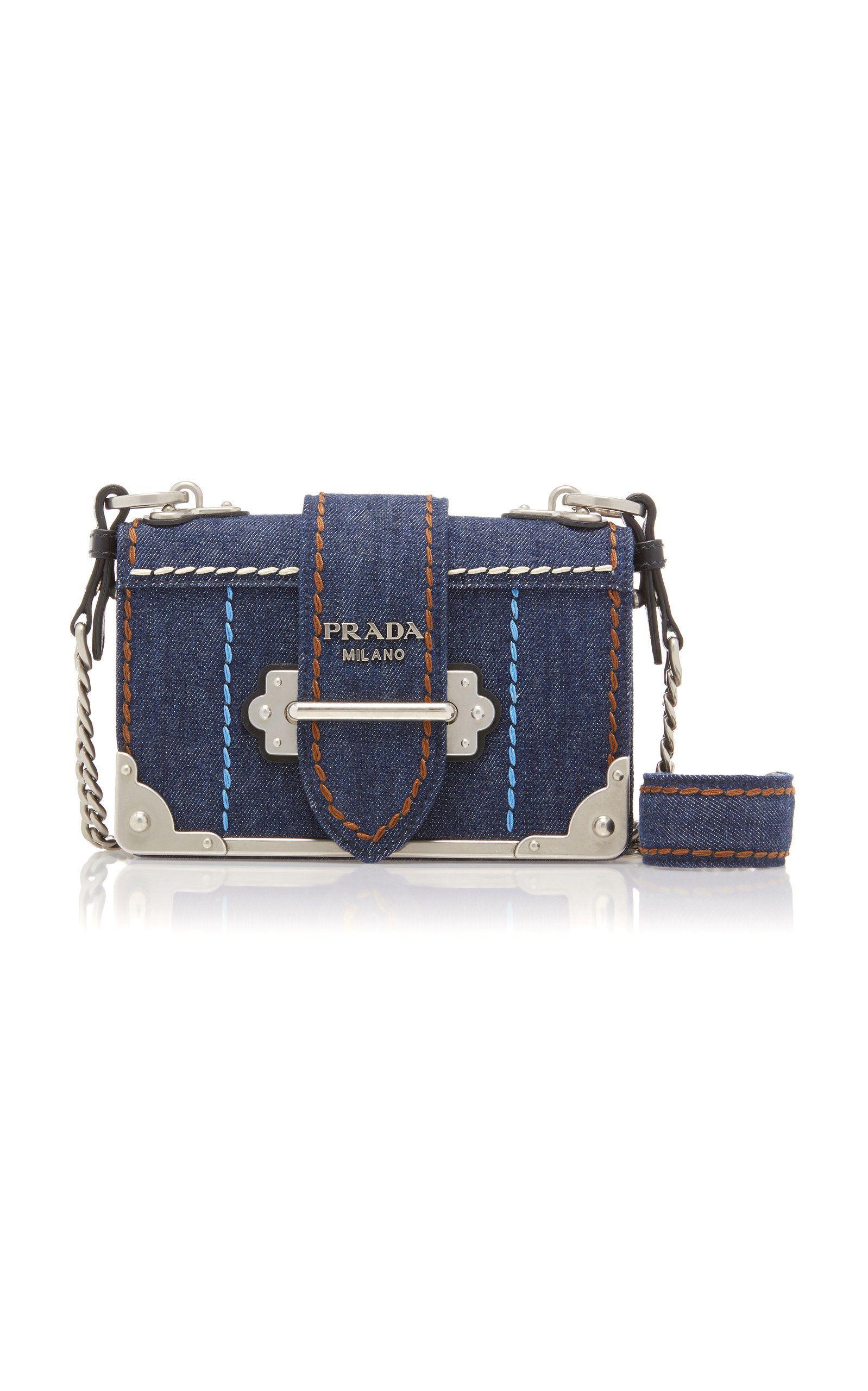 1a3b3198e28a Cahier Leather-Trimmed Denim Shoulder Bag in 2019