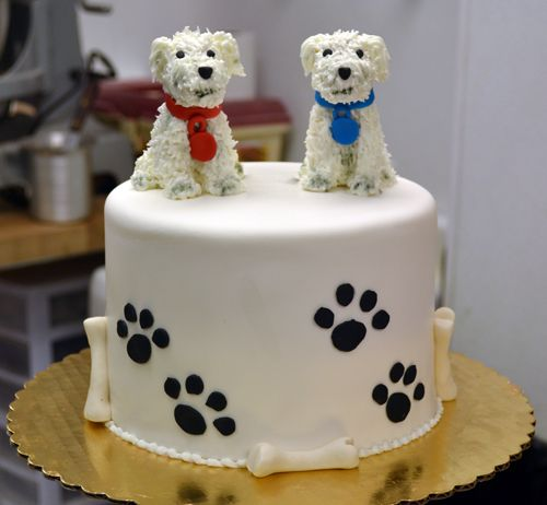 Marvelous Westie Cake Dog Cakes Adoption Cake Wedding Cake Fresh Flowers Birthday Cards Printable Trancafe Filternl