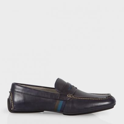 Car Shoes Paul Smith Homme 'Ride' En Cuir Bleu Marine