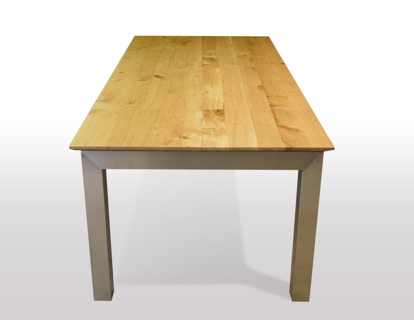 Tisch Wildeiche massiv Breite 120cm / Länge wählbar
