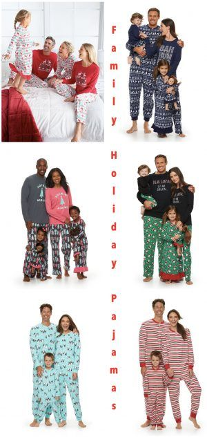 kohls family holiday pajamas