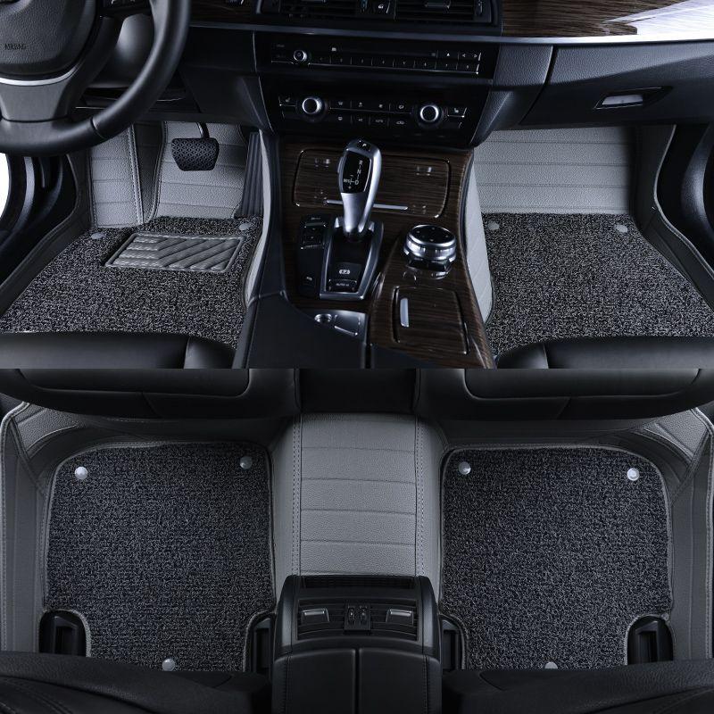 Leather Wire Car Floor Mat For Bmw1 2 3 4 5 6 7 M X1 3 4 5 6 M2 3 4 5 6 Gt Car Floor Carpets Coil Double La Benz Smart Interior Accessories Waterproof Flooring