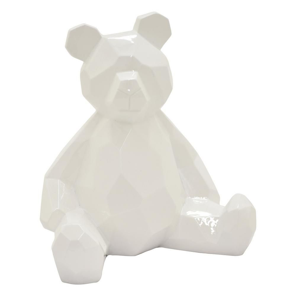 Three Hands 17 75 In Teddy Bear White White 49879 The Home Depot In 2020 Bear Figurine Teddy Bear Design Bear Sculptures