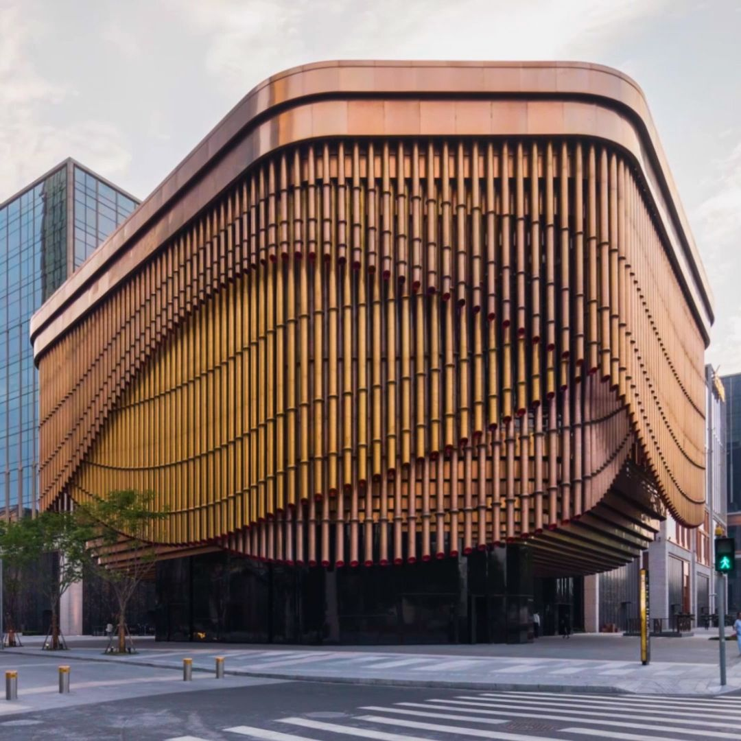 This bamboo building in Shanghai moves with the wind, and plays music like a giant flute - immersive and interactive architecture unlike any other!