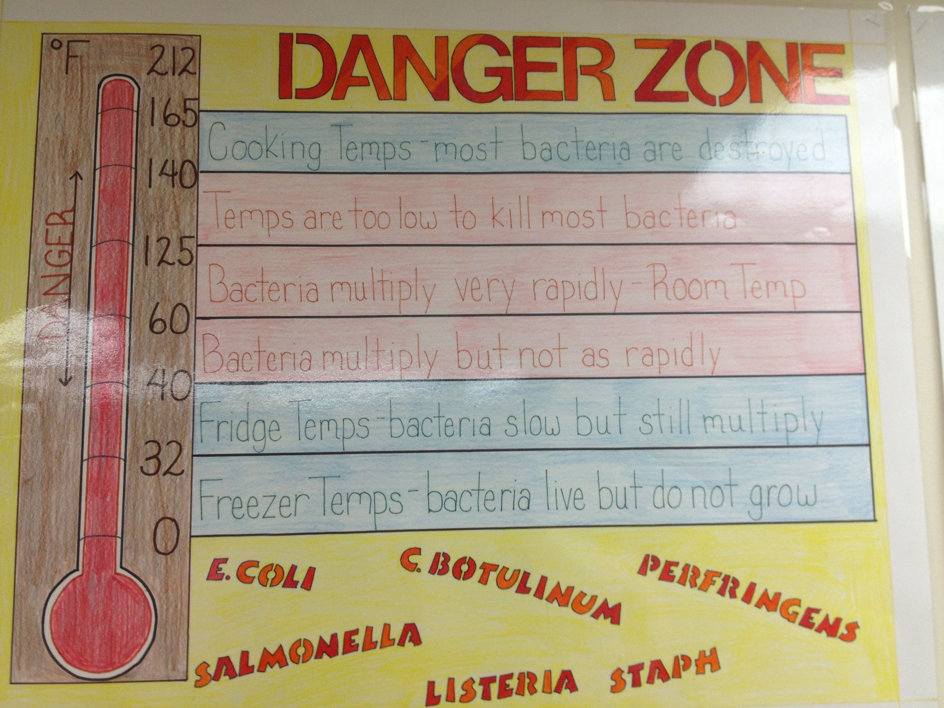 Food danger zone posters and bulletin boards pinterest