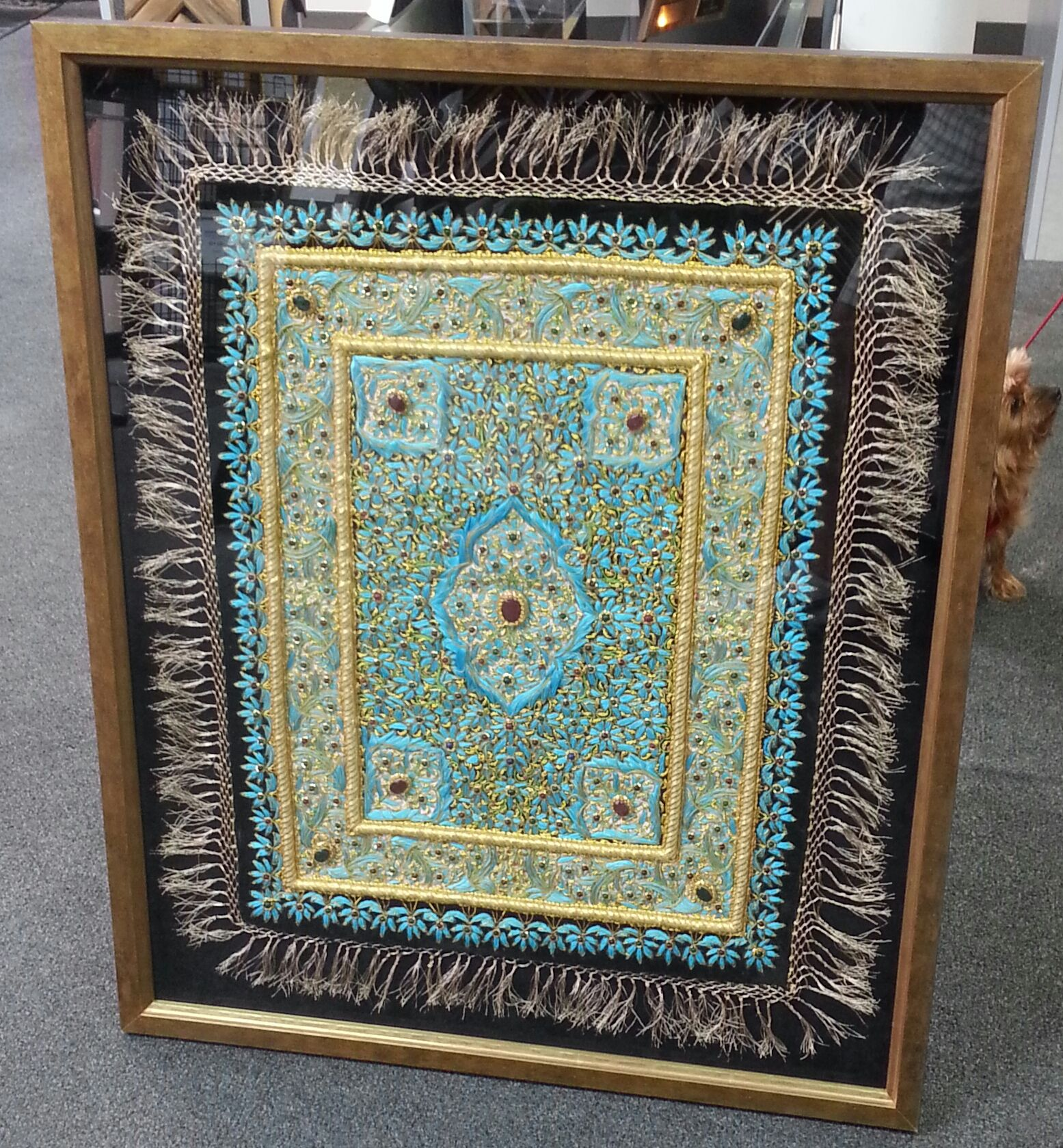 Custom Framed Persian Rug In A Shadowbox By Fastframe Of Lodo