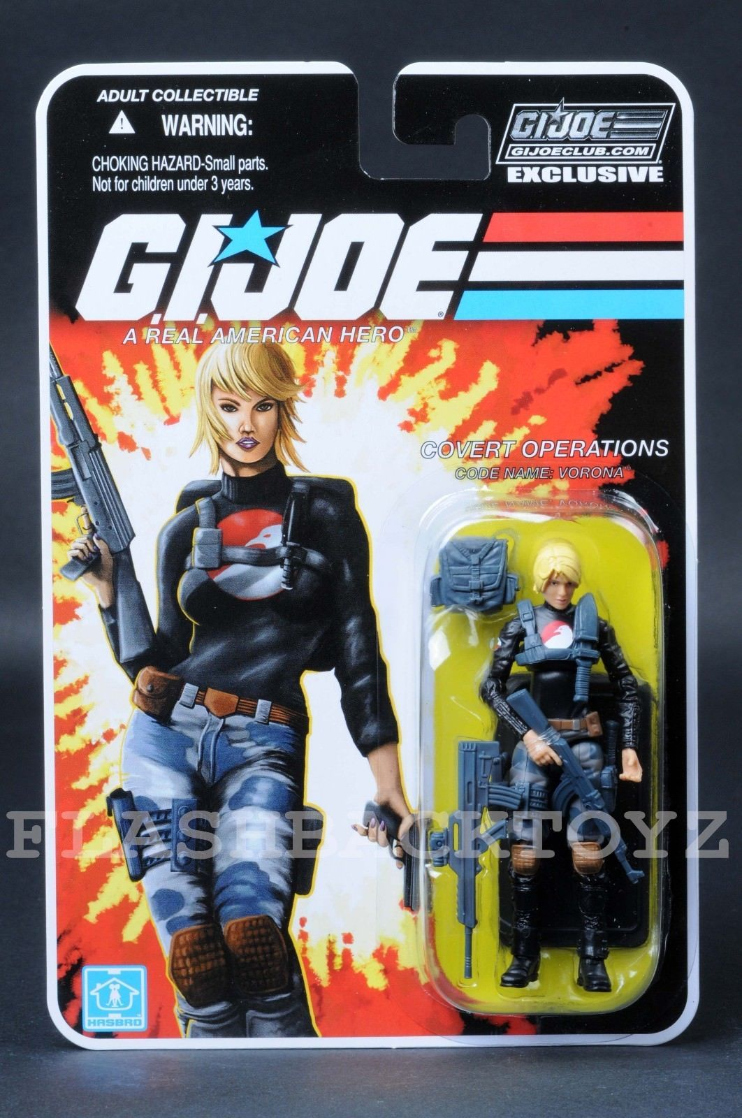 "GI JOE  COBRA 3 3//4/"" Hasbro CARD BACK FILE ONLY  BARONESS"
