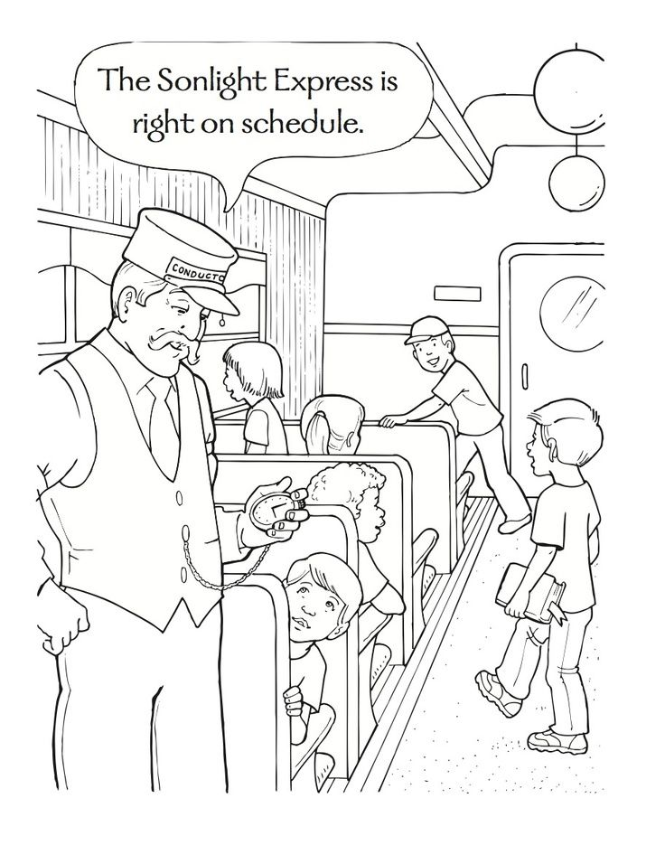 polar express coloring pages free # 2