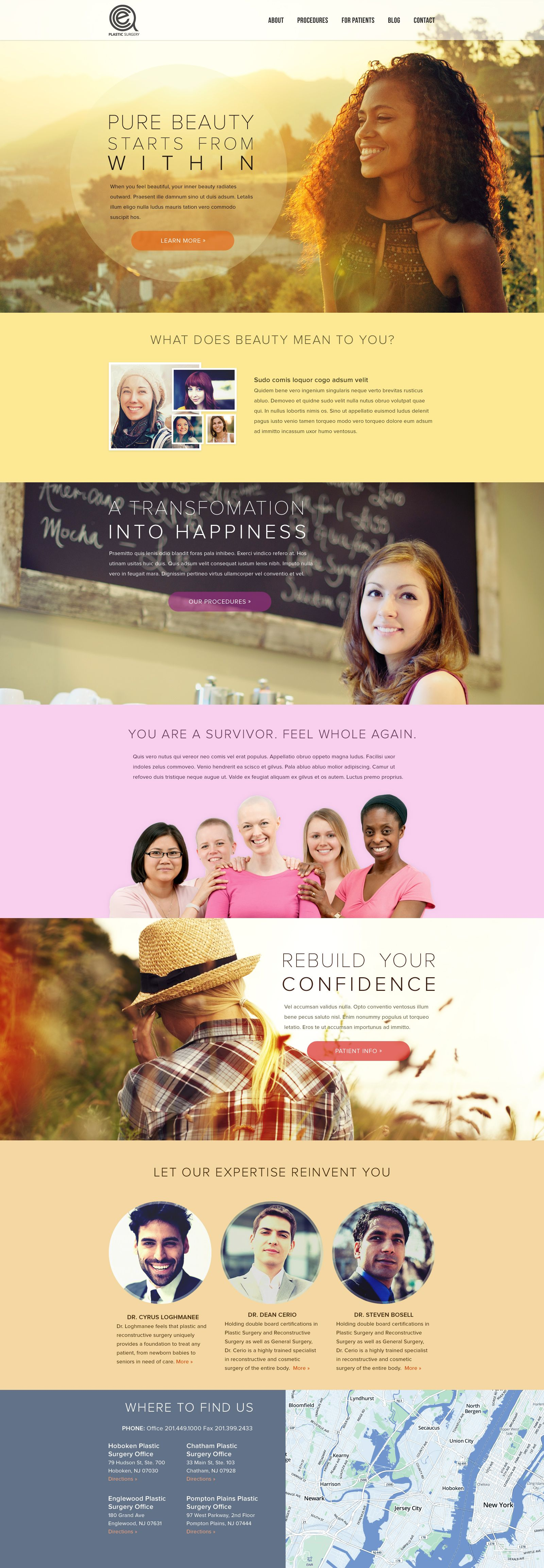 Plastic Surgeon site redesign by Jason Kirtley