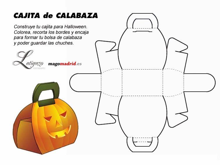 plantilla-caja-halloween | manualidades | Pinterest | Halloween ...