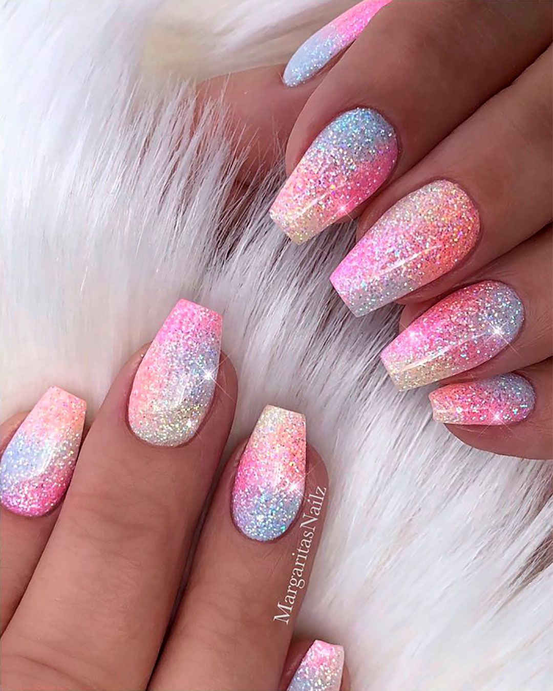 Cute Unicorn Nails Acrylic Design Sparkly Acrylic Nails Unicorn Nail Art Shiny Nails Designs