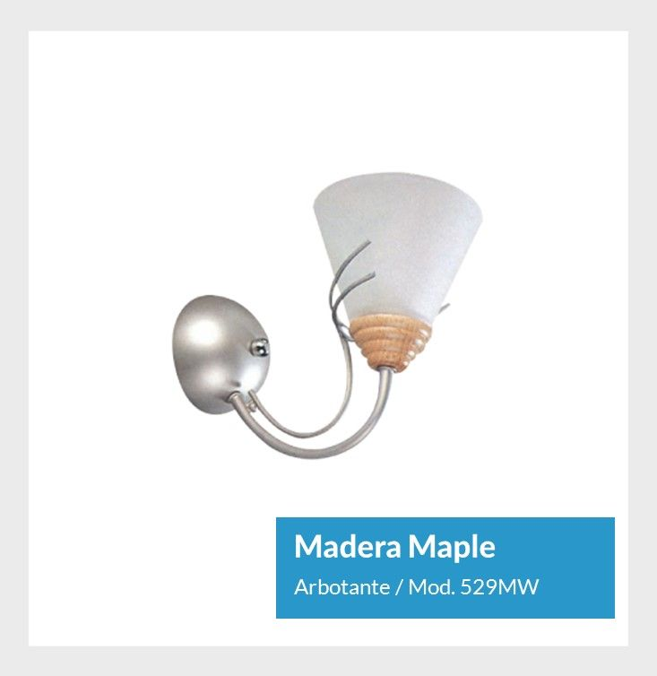 Madera Maple Arbotante Mod. 529MW