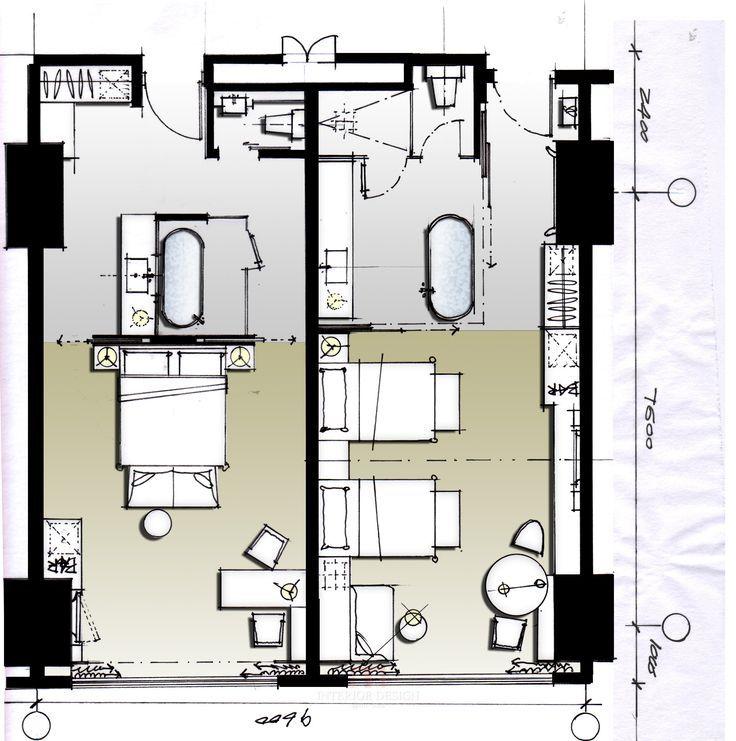 Bildergebnis für hotelzimmer grundriss architektur