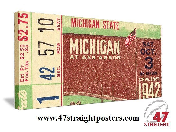 1942 Michiganstate Msu Spartans Vs Michigan Wolverines