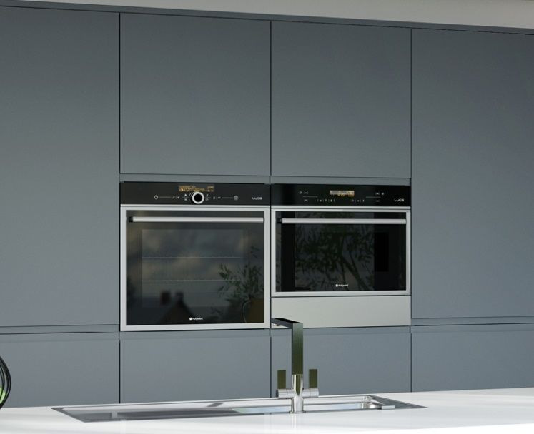 Grey Acrylic Cabinets In A Matte Finish Glass Cabinet Doors