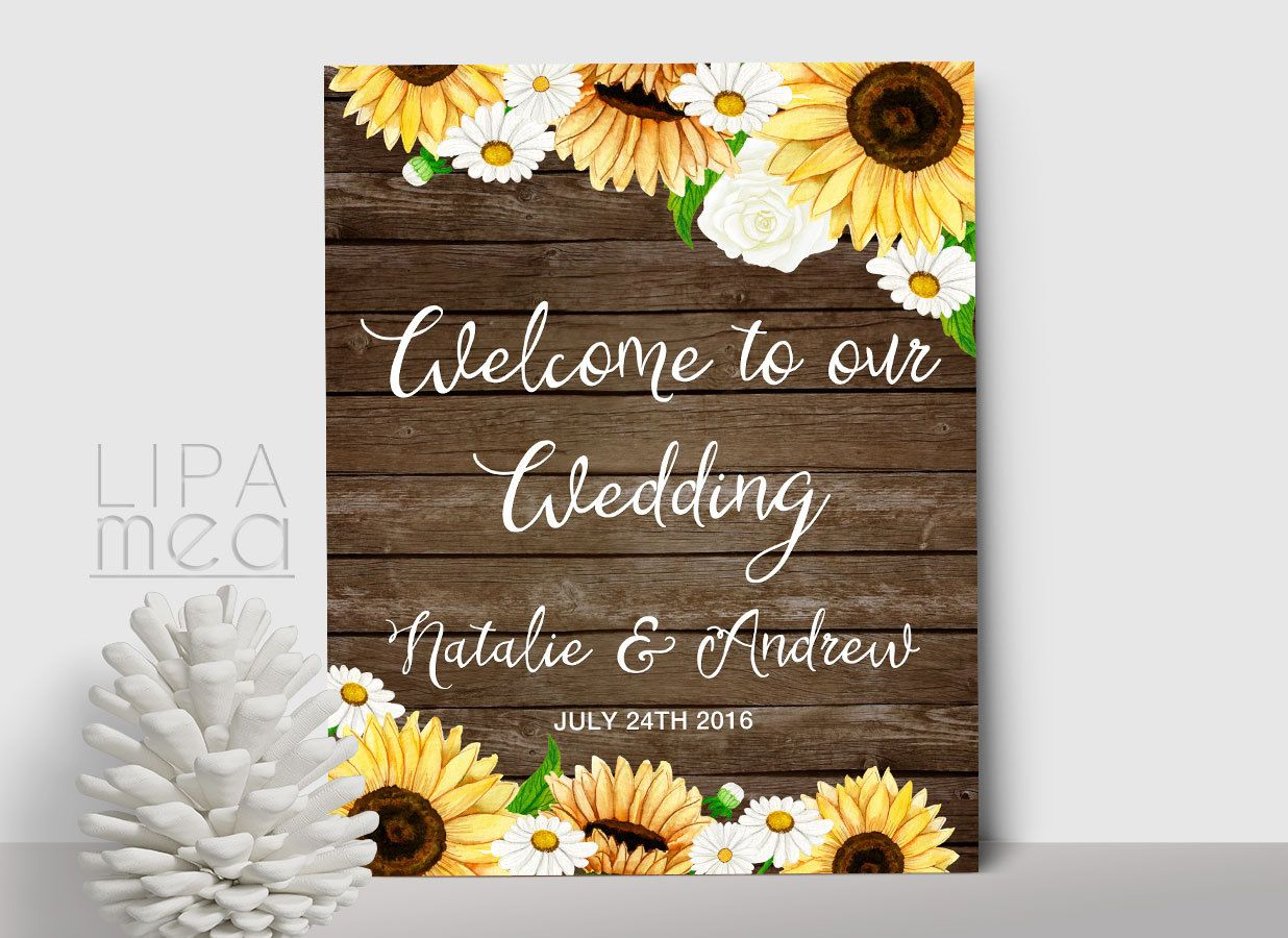 25++ Rustic wedding signs sunflower ideas