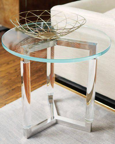 H8LYL Bernhardt Salon Stainless Steel Side Table