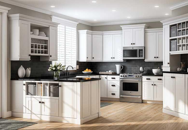Tie Your Kitchen With Stunning Kitchen Cabinets White Shaker