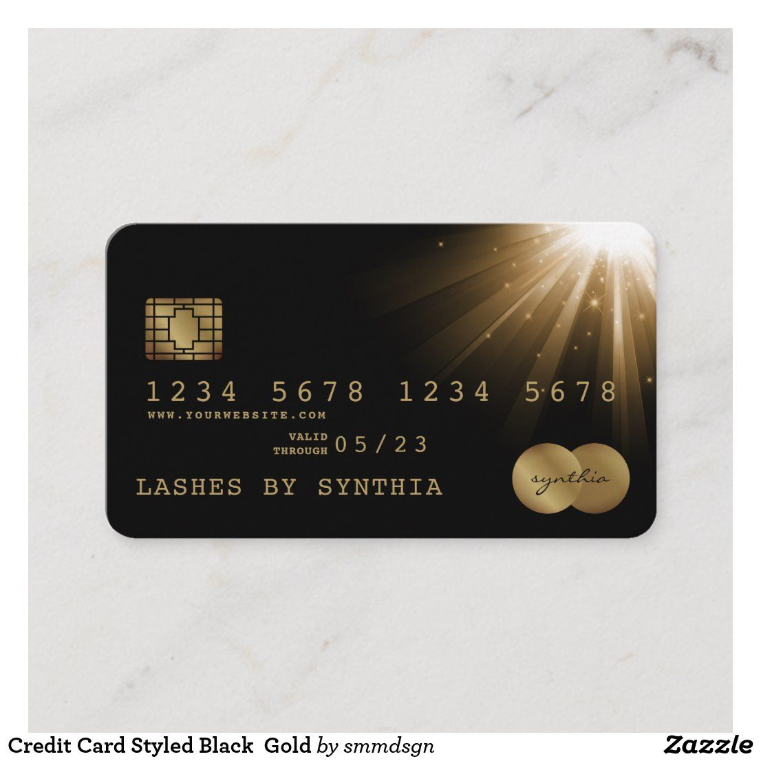 Credit Card Styled Black Gold Zazzle Com In 2021 Debit Card Design Credit Card Gold Credit Card