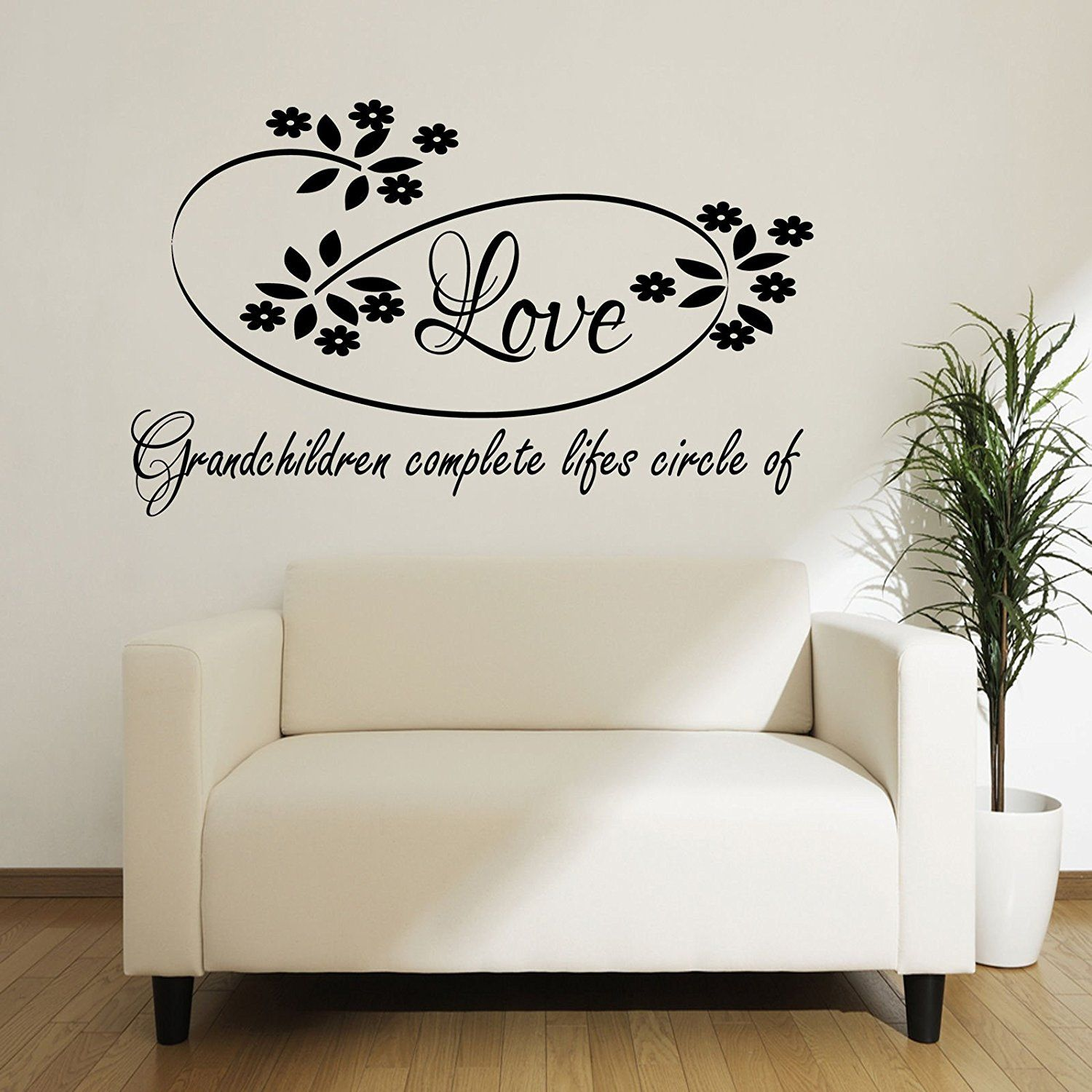 Grandchildren complete lifes circle of love ART wall quote ...
