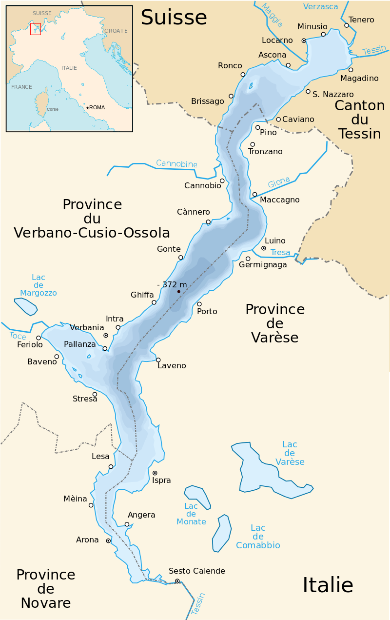 lac majeur italie carte Lake Maggiore map   Carte du lac Majeur.   Lac majeur italie, Lac