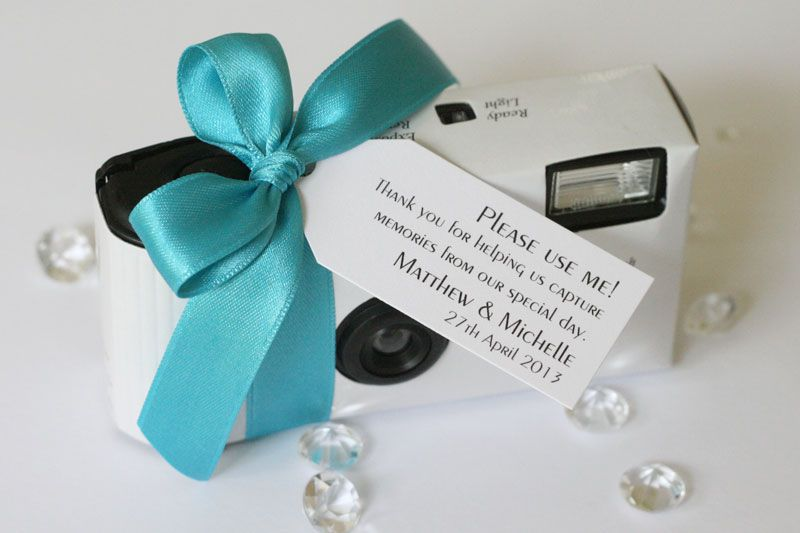 Personalised Disposable Wedding Camera From Little Gems Weddings